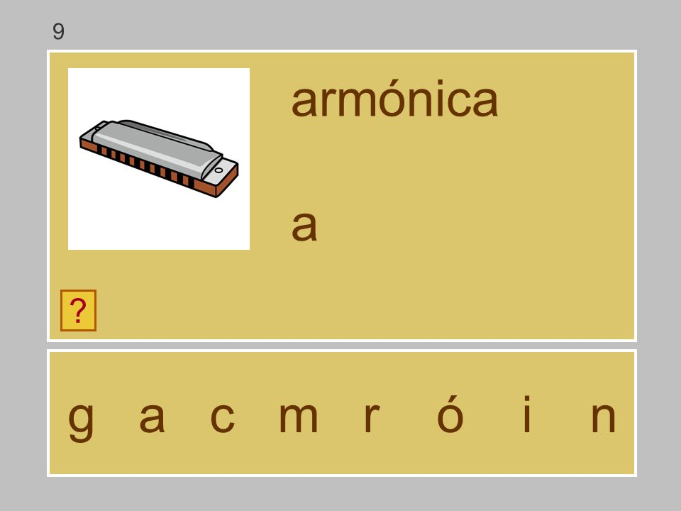 9 armónica a g a c m r ó i n