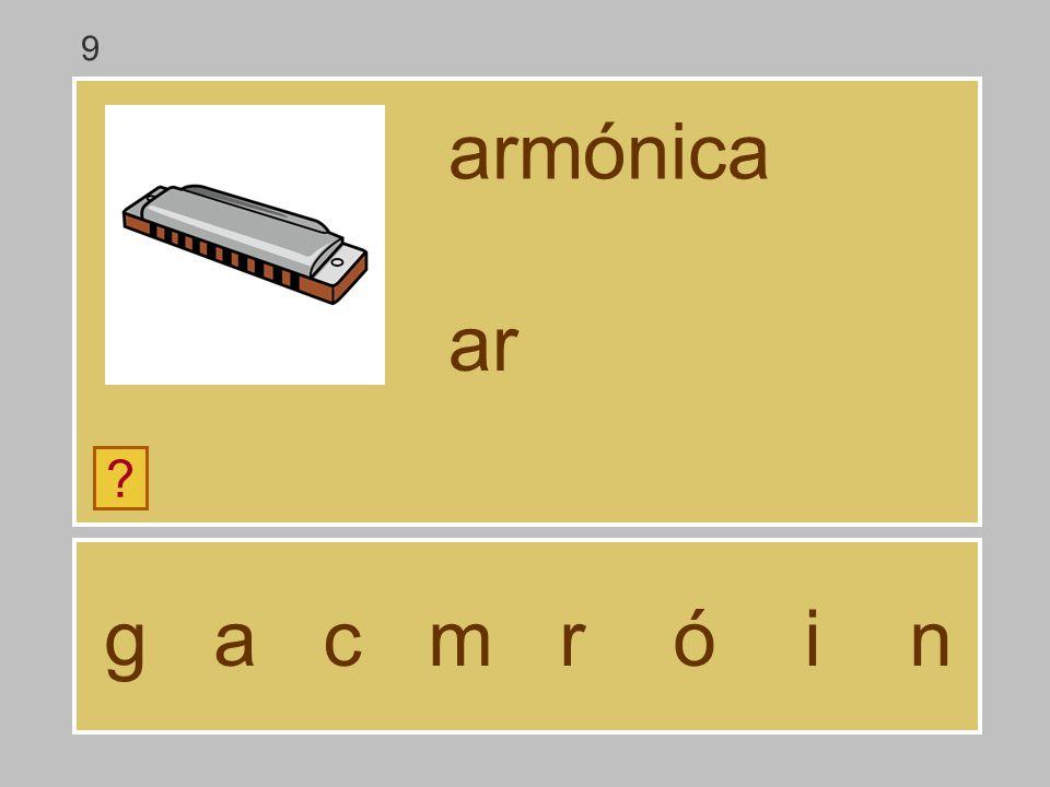 9 armónica ar g a c m r ó i n
