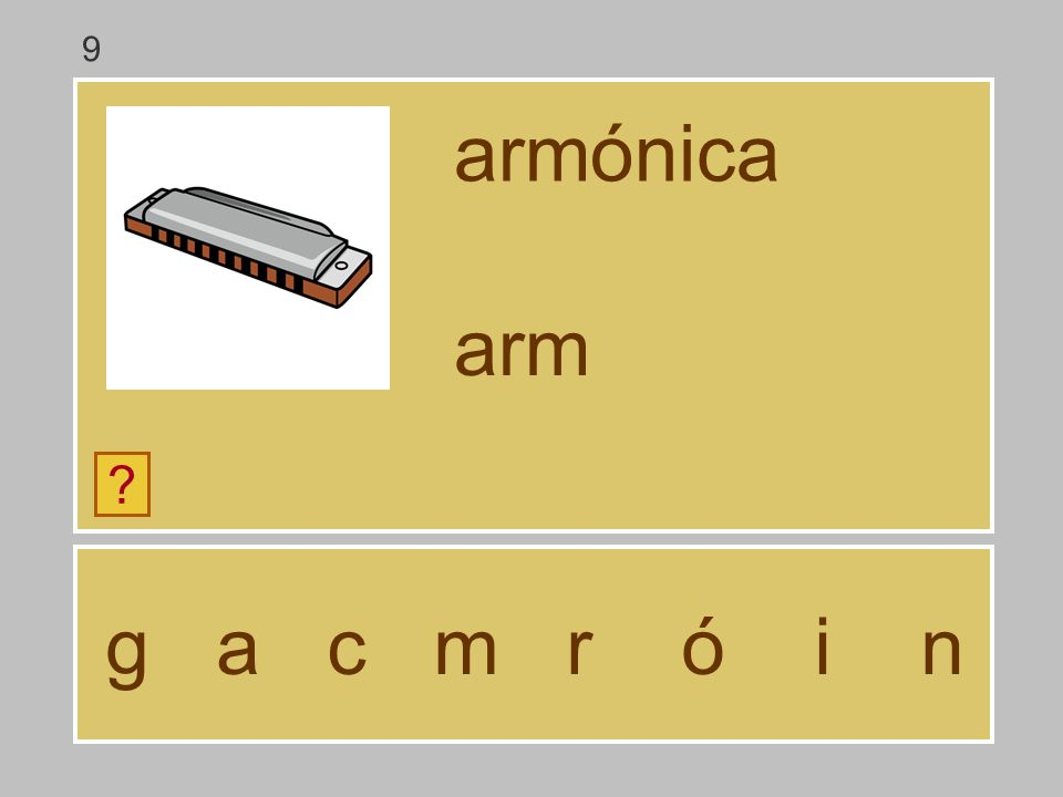 9 armónica arm g a c m r ó i n
