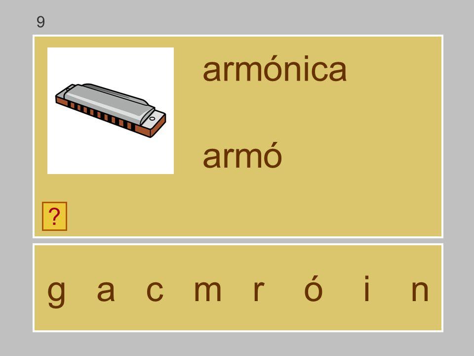 9 armónica armó g a c m r ó i n