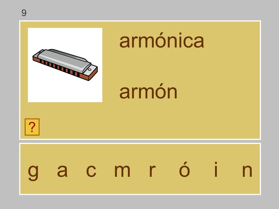 9 armónica armón g a c m r ó i n