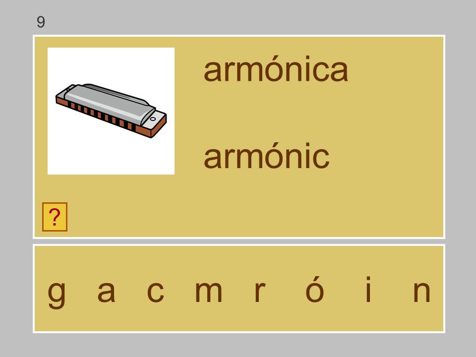 9 armónica armónic g a c m r ó i n