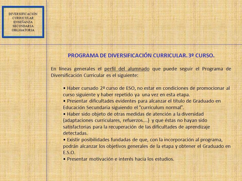 PROGRAMA DE DIVERSIFICACIÓN CURRICULAR. 3º CURSO.