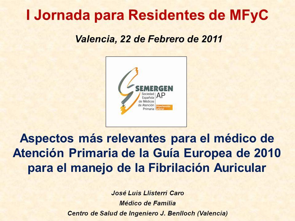 I Jornada para Residentes de MFyC