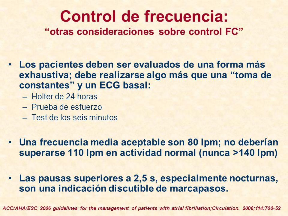 Control de frecuencia: otras consideraciones sobre control FC