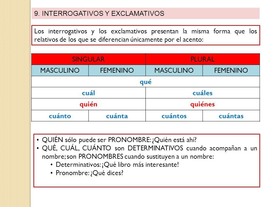 9. INTERROGATIVOS Y EXCLAMATIVOS