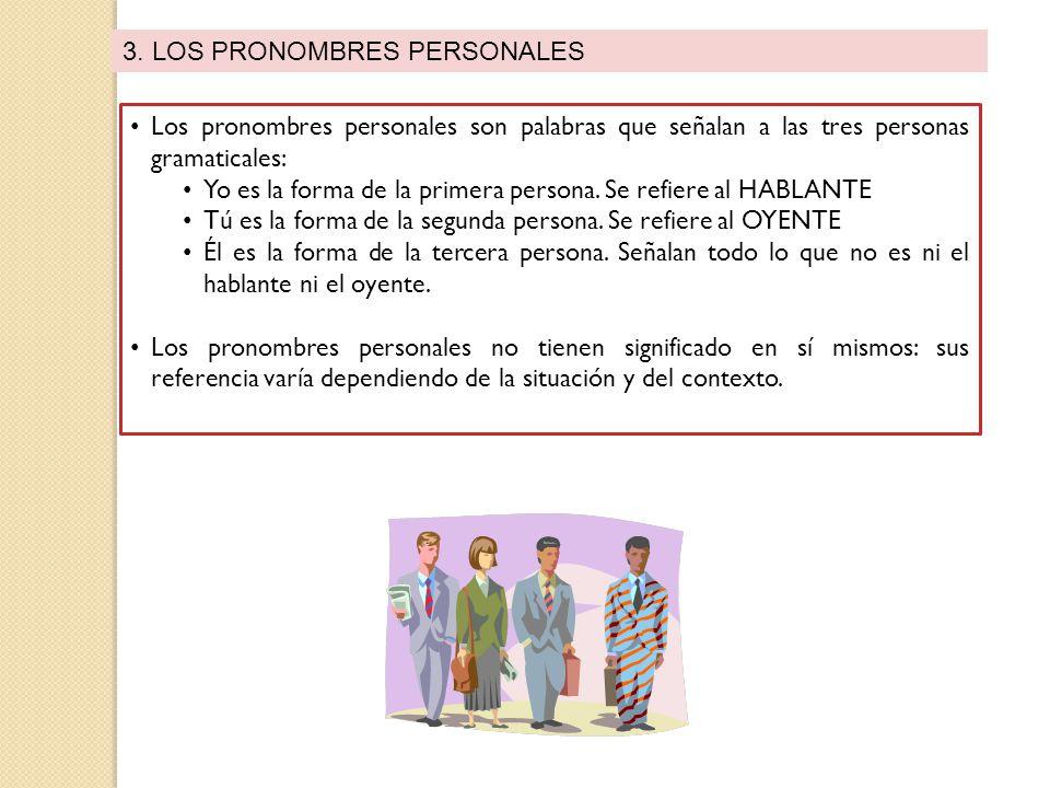 3. LOS PRONOMBRES PERSONALES