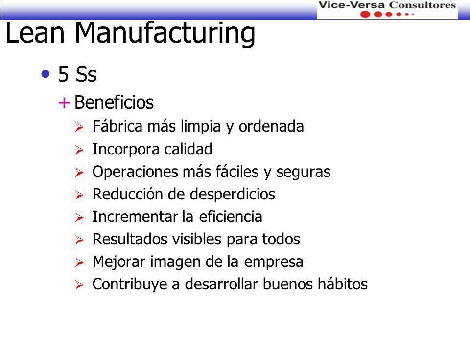 Lean Manufacturing 5 Ss Beneficios Fábrica más limpia y ordenada