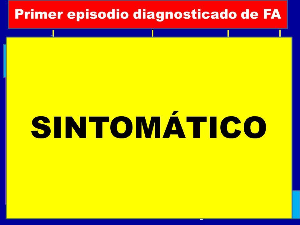 SINTOMÁTICO Primer episodio diagnosticado de FA Paroxistica