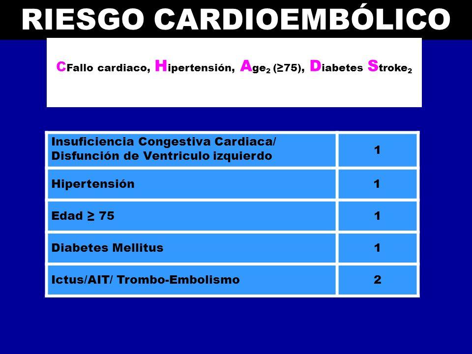 Riesgo cardioembólico