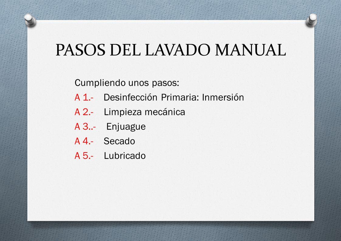 PASOS DEL LAVADO MANUAL