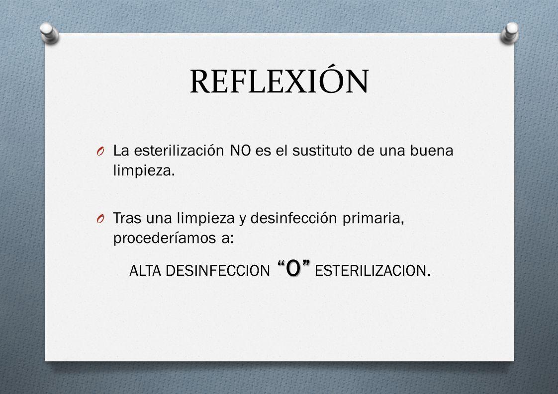 ALTA DESINFECCION O ESTERILIZACION.