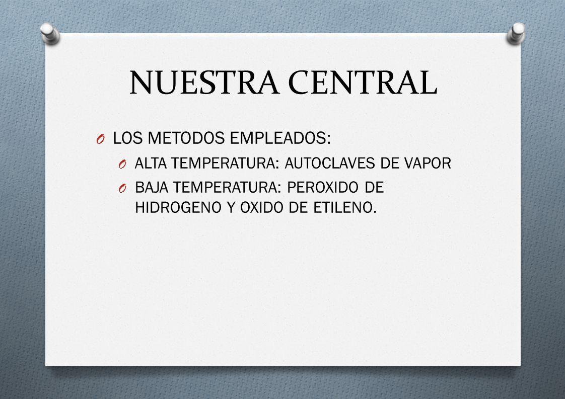 NUESTRA CENTRAL LOS METODOS EMPLEADOS: