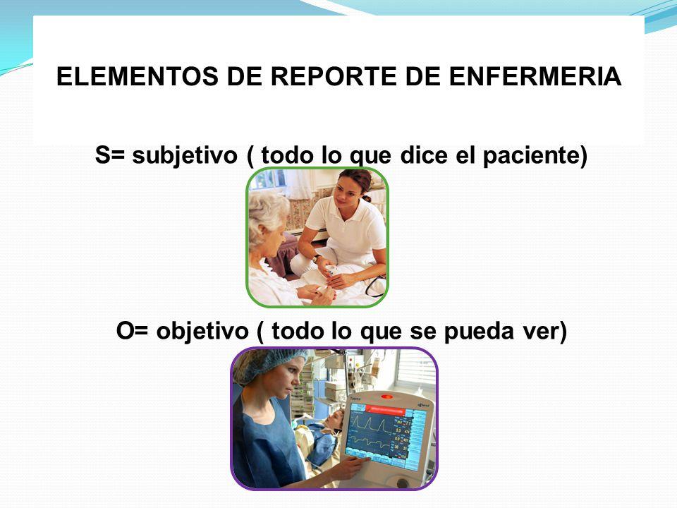ELEMENTOS DE REPORTE DE ENFERMERIA