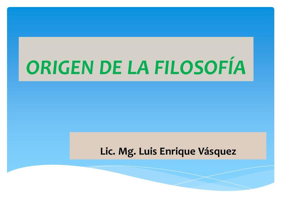 Lic. Mg. Luis Enrique Vásquez