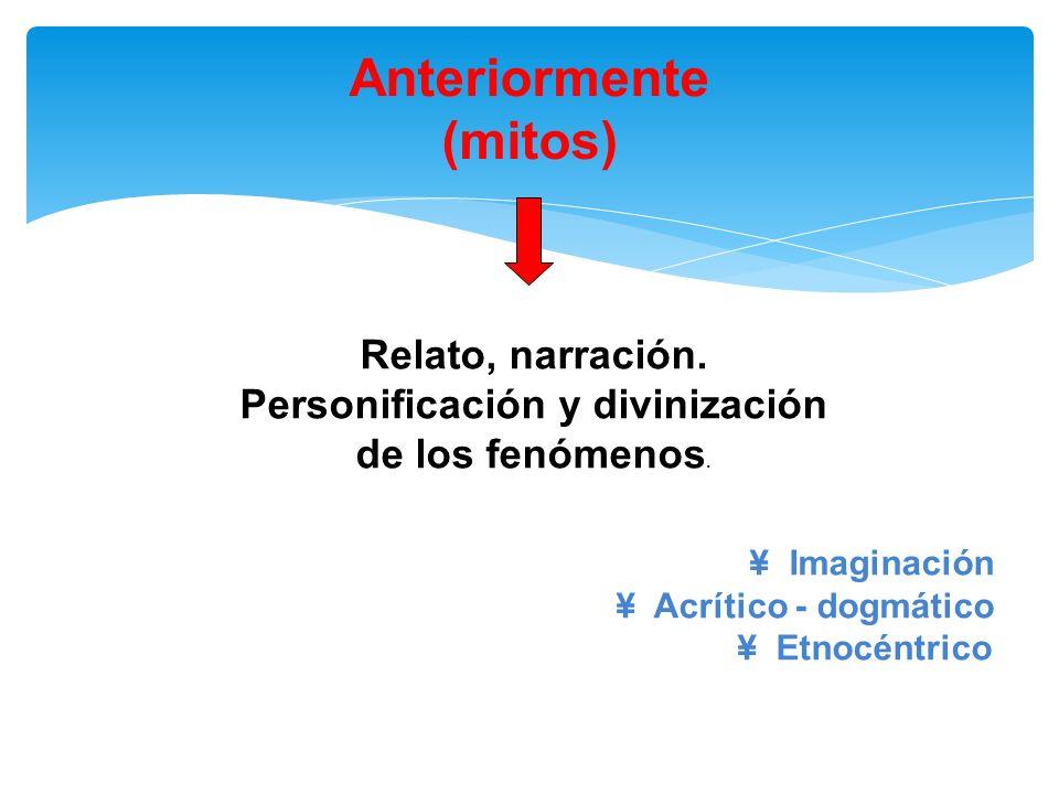 Personificación y divinización