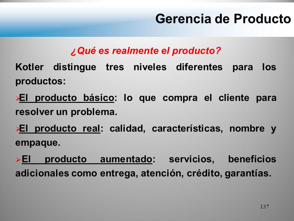 ¿Qué es realmente el producto