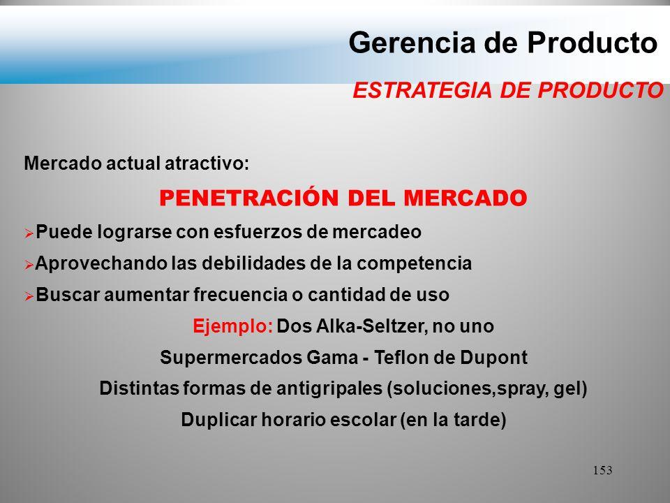 Gerencia de Producto ESTRATEGIA DE PRODUCTO PENETRACIÓN DEL MERCADO