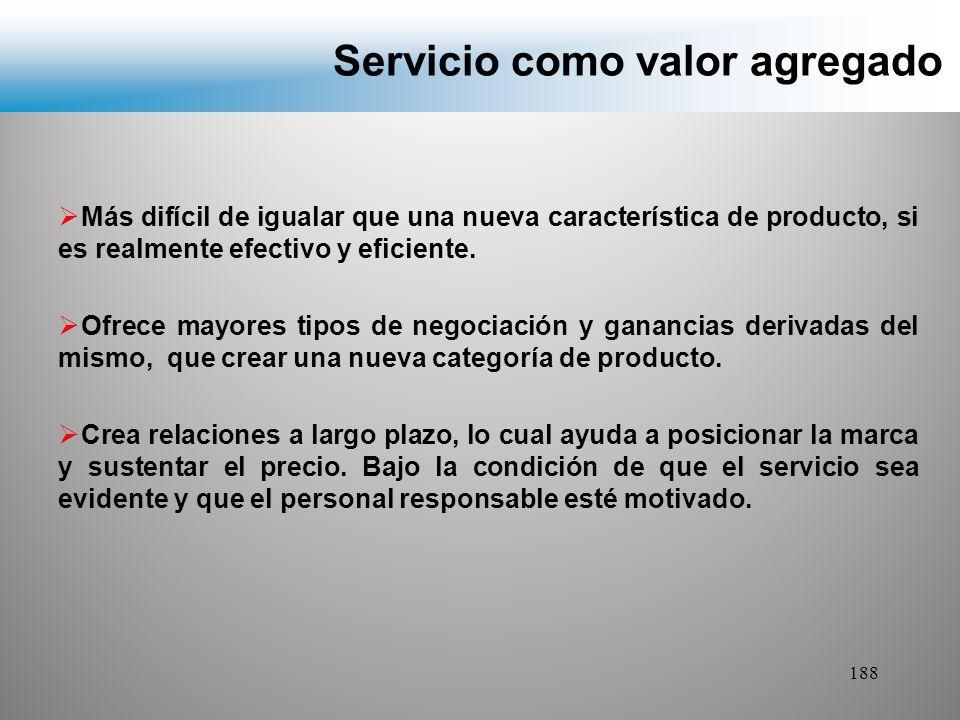 Servicio como valor agregado