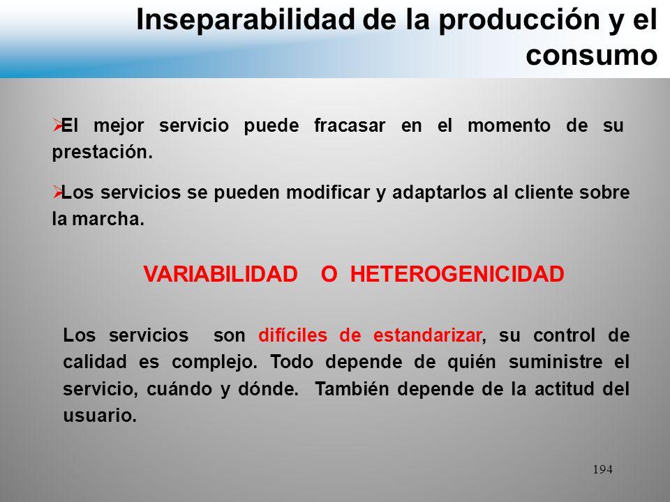 Inseparabilidad de la producción y el consumo