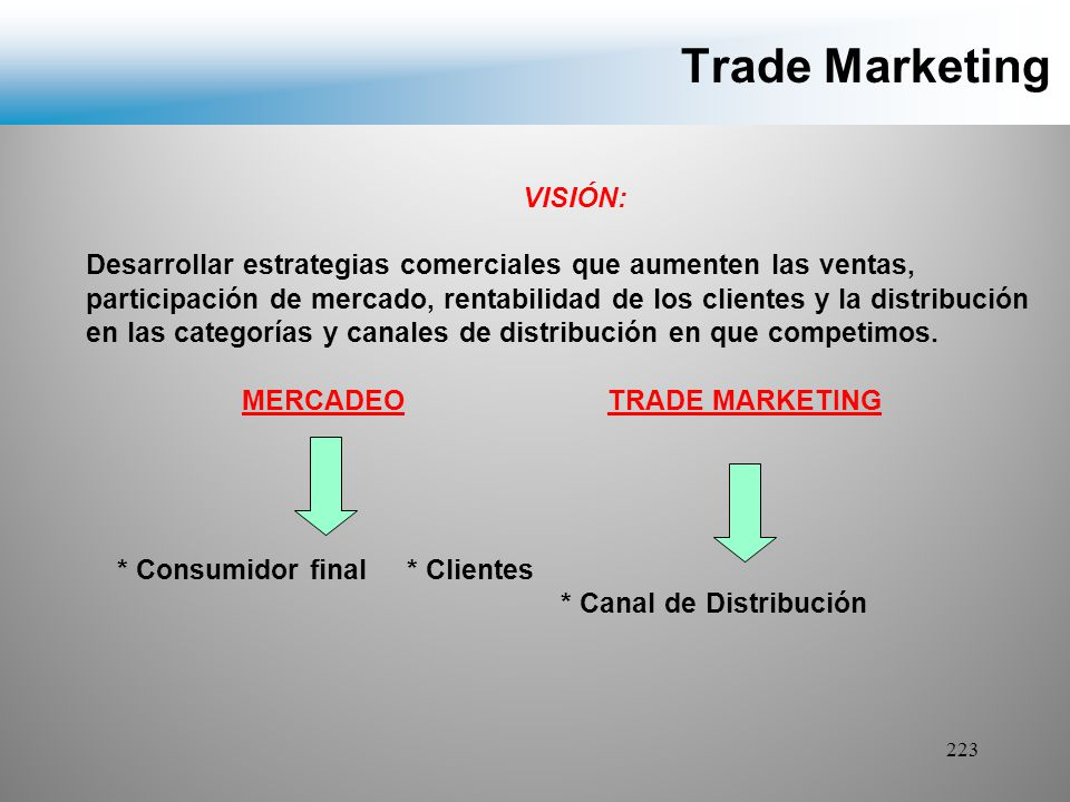 Trade Marketing VISIÓN: