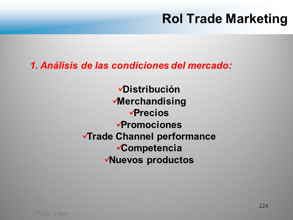 Trade Channel performance