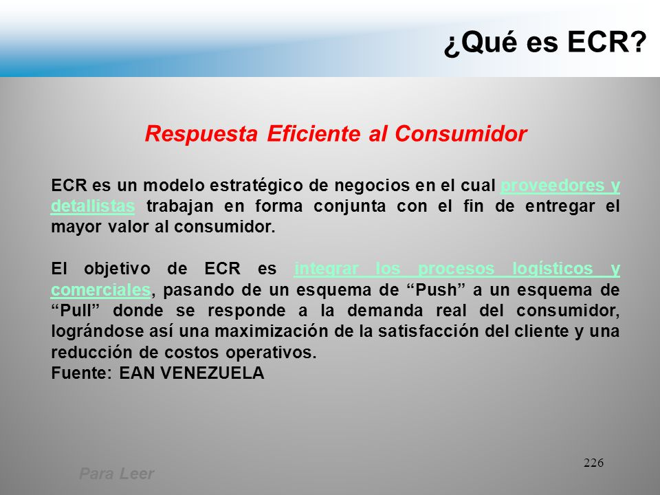 Respuesta Eficiente al Consumidor