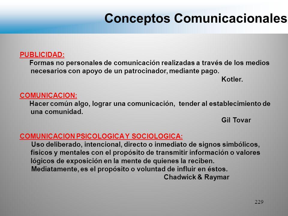 Conceptos Comunicacionales