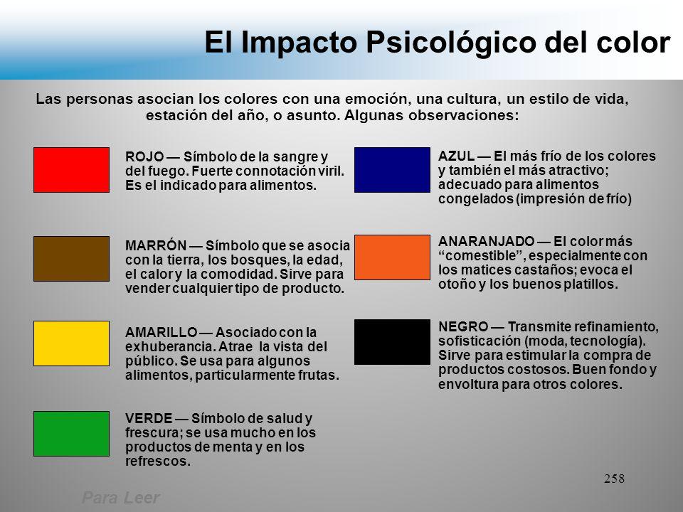 El Impacto Psicológico del color