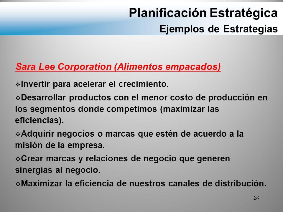 Planificación Estratégica Ejemplos de Estrategias