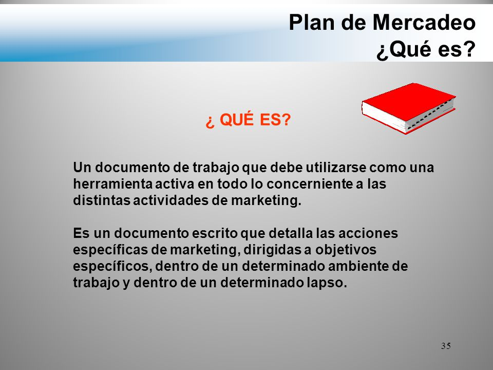 Plan de Mercadeo ¿Qué es