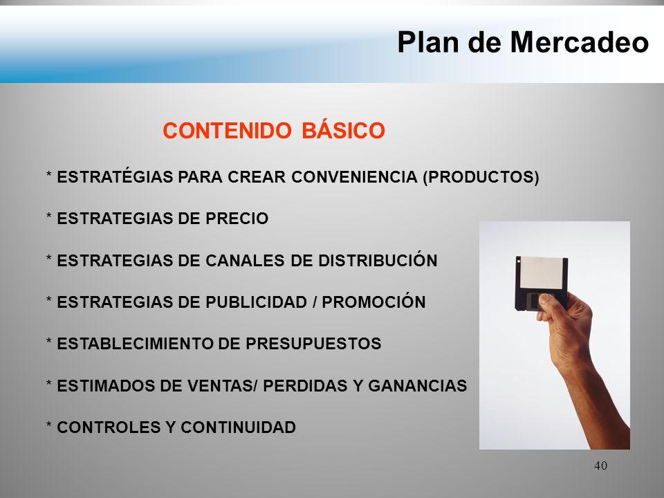Plan de Mercadeo CONTENIDO BÁSICO