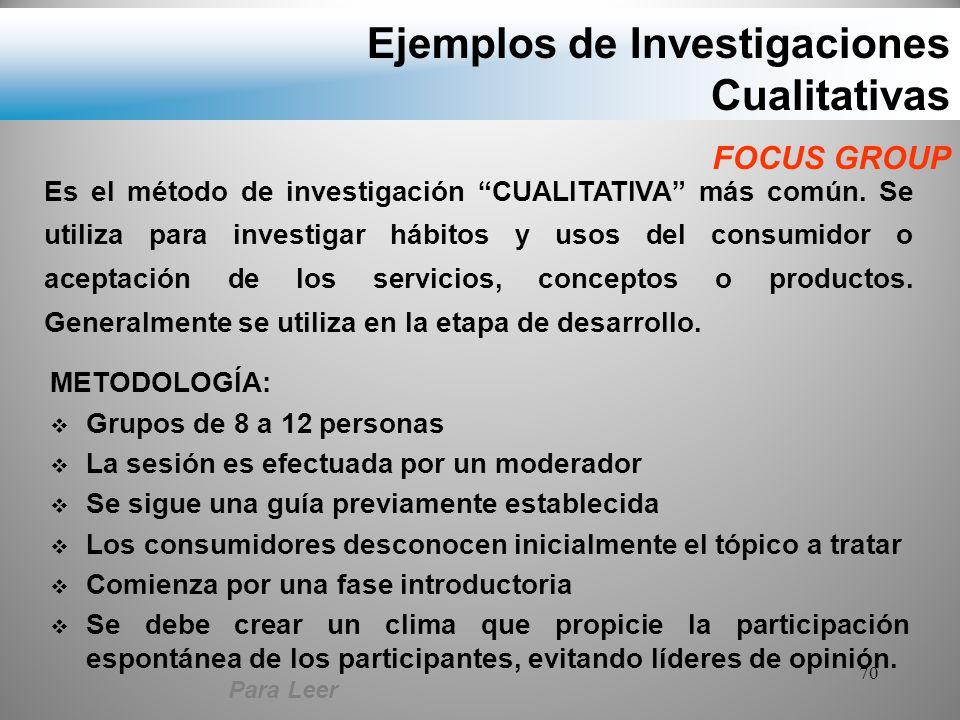 Ejemplos de Investigaciones Cualitativas