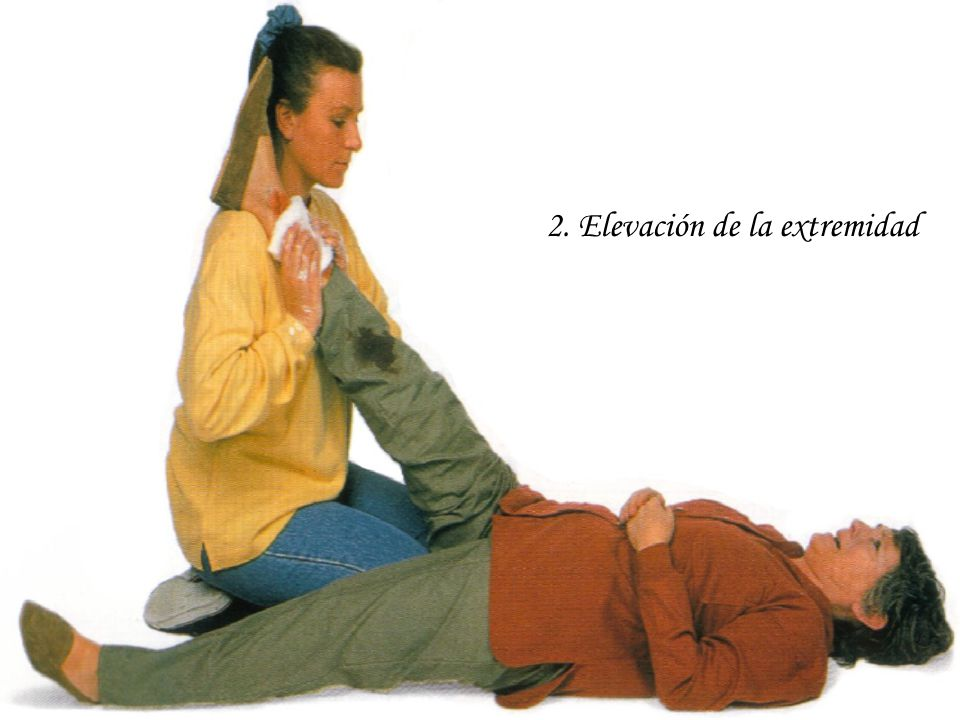 2. Elevación de la extremidad