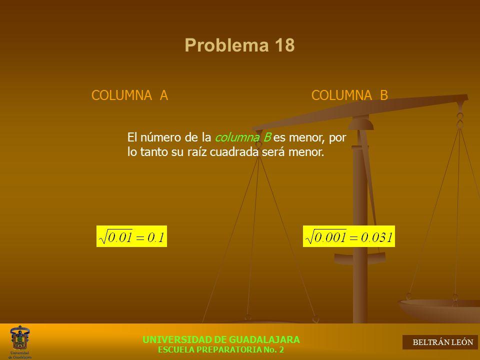 Problema 18 COLUMNA A COLUMNA B