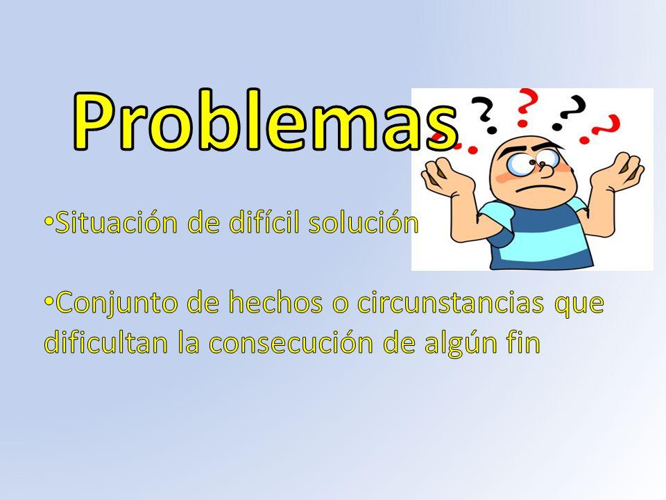 Problemas Situación de difícil solución