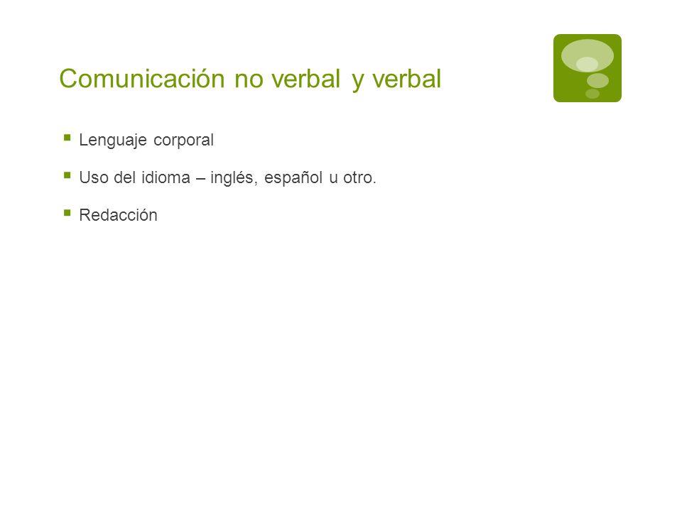 Comunicación no verbal y verbal