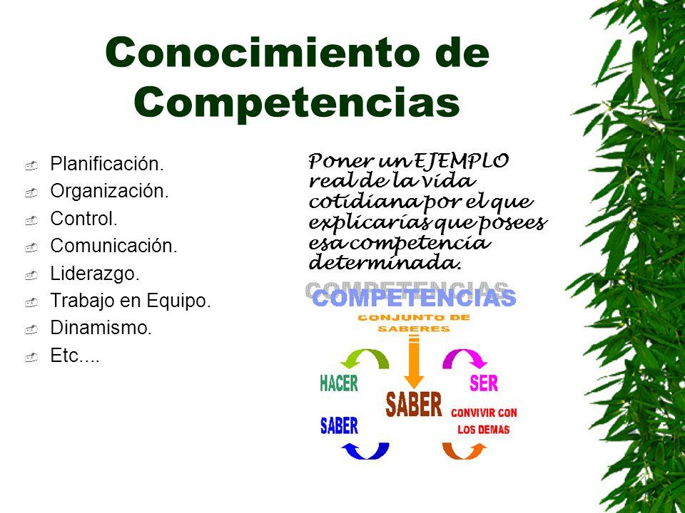 Conocimiento de Competencias