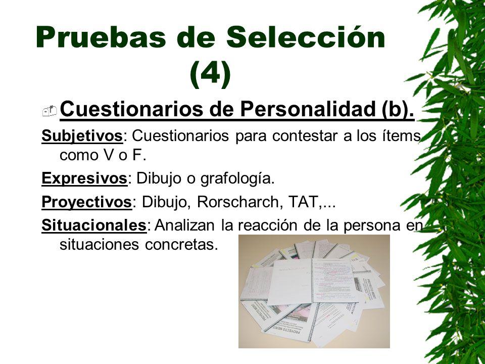 Pruebas de Selección (4)