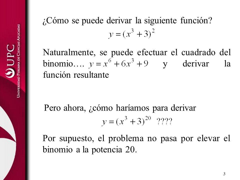¿Cómo se puede derivar la siguiente función