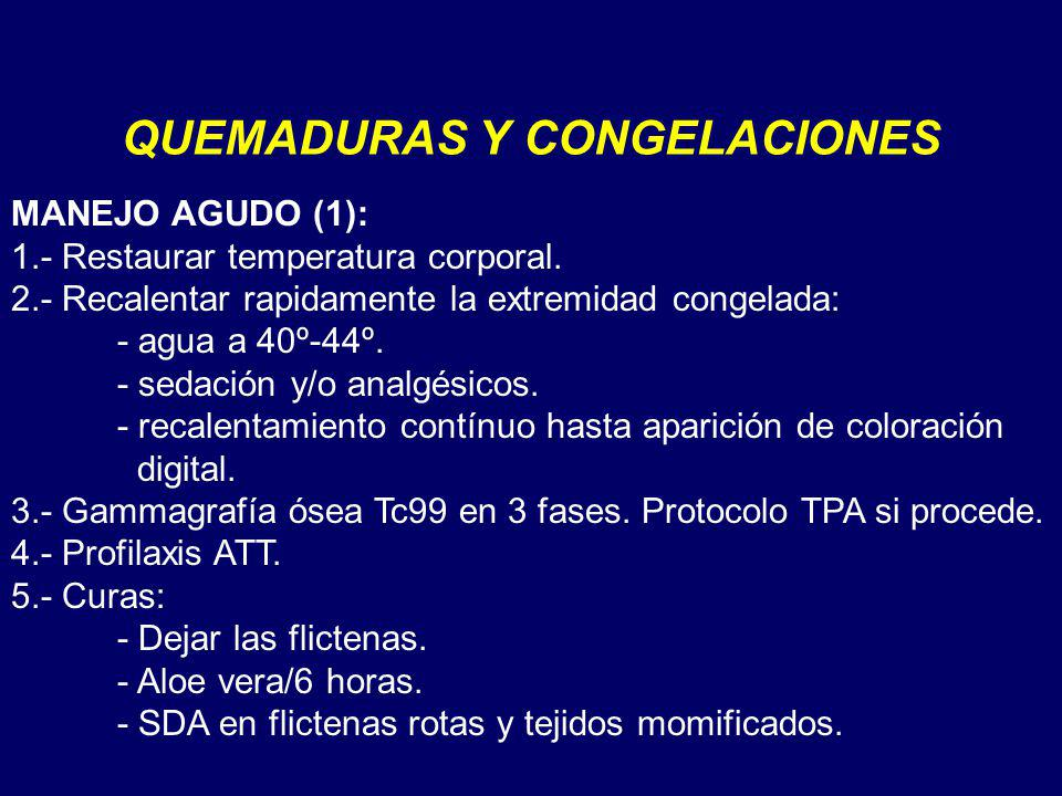QUEMADURAS Y CONGELACIONES