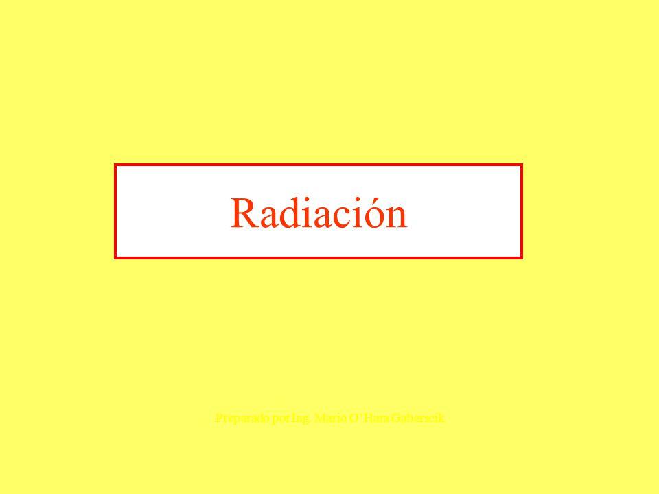Radiación Preparado por Ing. Mario O'Hara Gaberscik