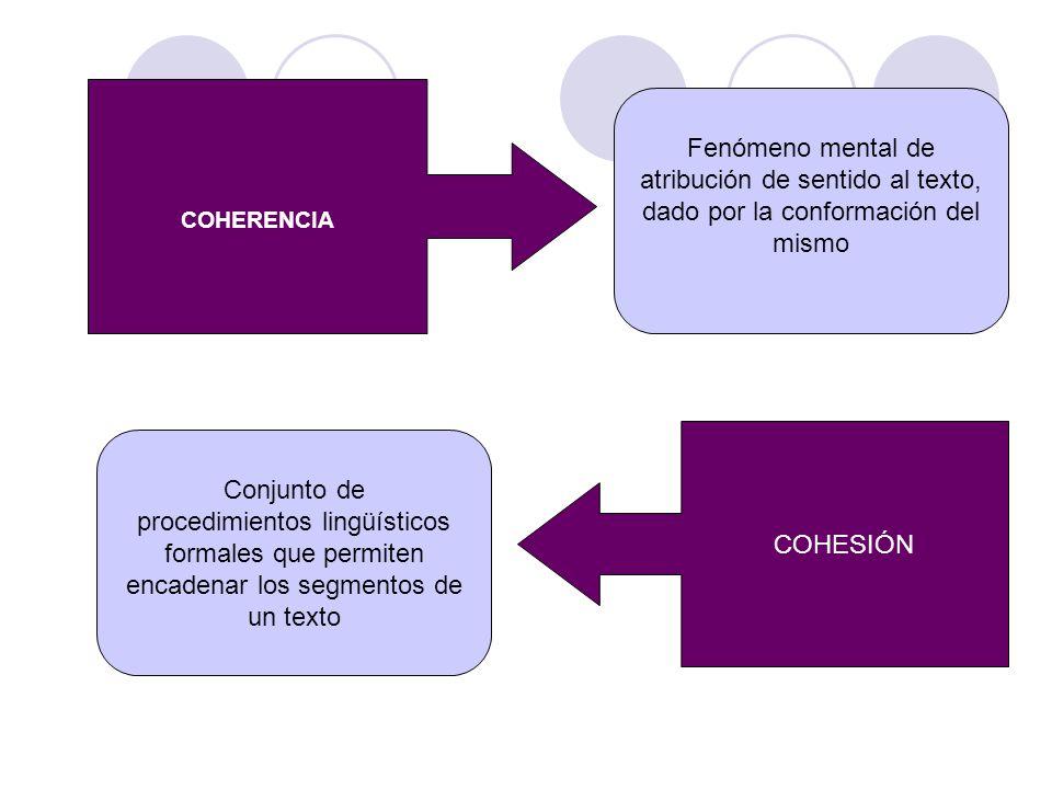 procedimientos lingüísticos formales que permiten