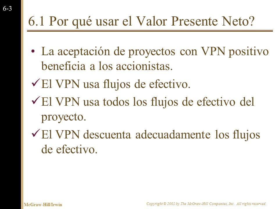 La Regla del Valor Presente Neto (VPN)