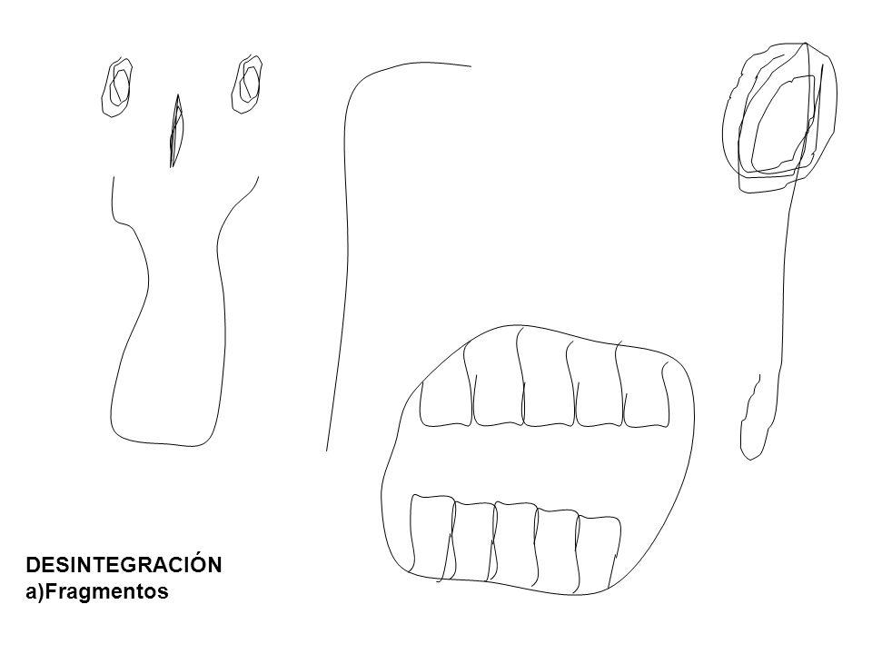 DESINTEGRACIÓN a)Fragmentos