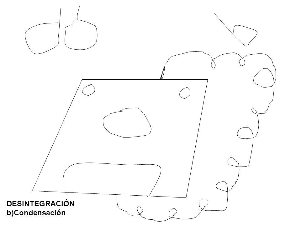 DESINTEGRACIÓN b)Condensación