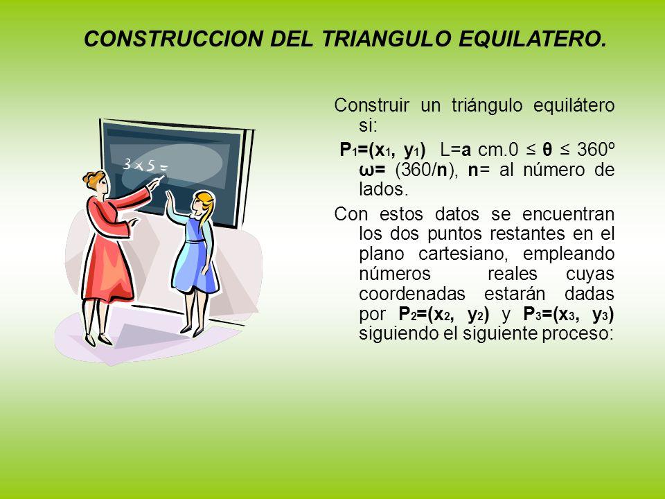 CONSTRUCCION DEL TRIANGULO EQUILATERO.
