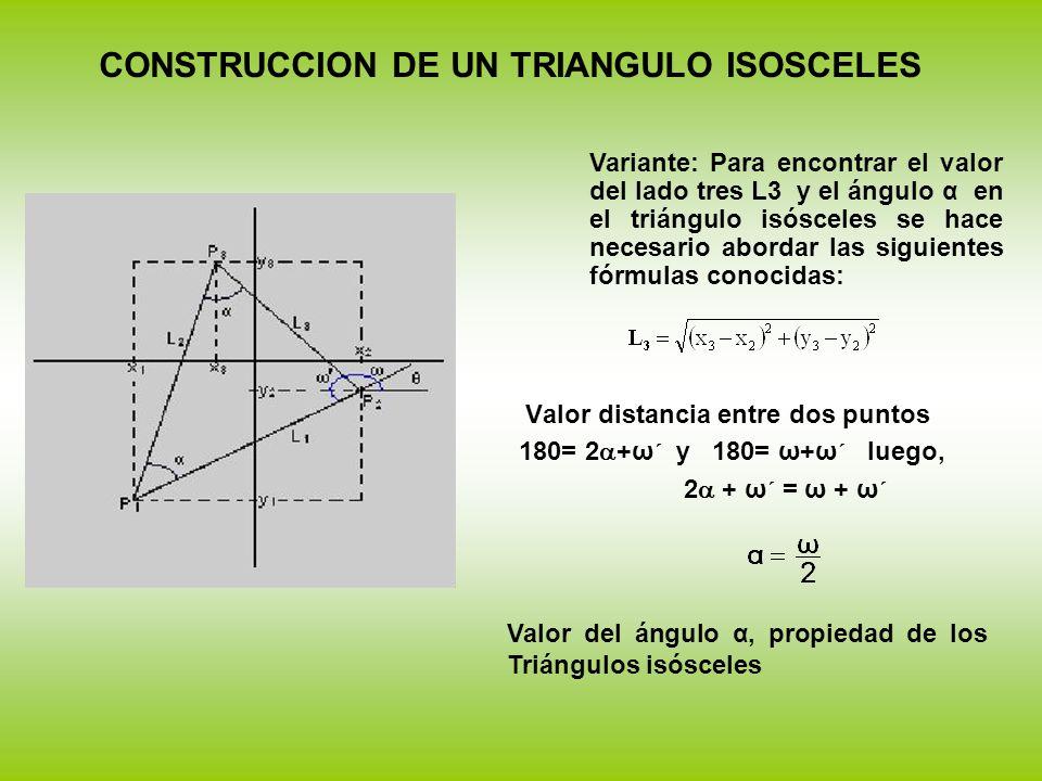 CONSTRUCCION DE UN TRIANGULO ISOSCELES