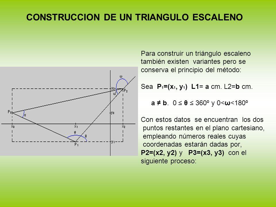 CONSTRUCCION DE UN TRIANGULO ESCALENO