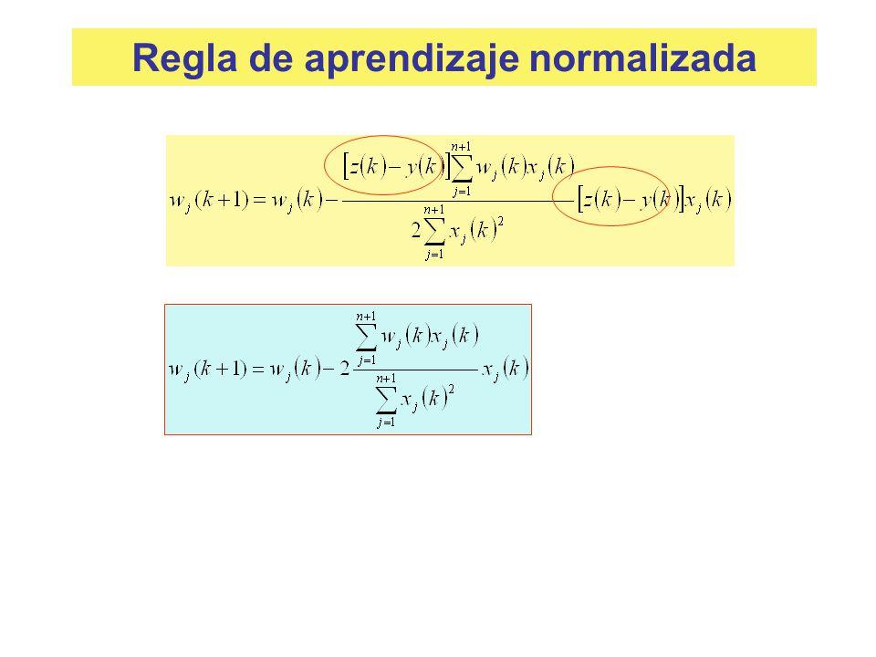 Regla de aprendizaje normalizada